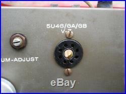 Estate Vintage Eico Hf-20 Mono Block Tube Amp
