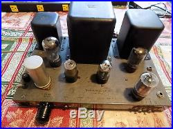 Heathkit W4 AM Monoblock Tube Amp Fully Recapped Sounding Great