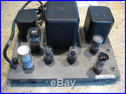 Heathkit W4 AM monoblock Williamson tube amp reconditioned and playing