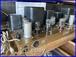 Heathkit W4 -B Mono Blocks WAP-2 Preamps Tube 6v6 12ax7 Stereo Amplifier Vintage