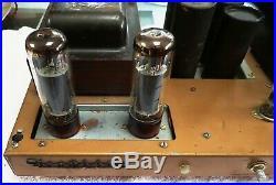 Heathkit W7a El34/6ca7 + 12ax7 Tube Mono Block Amplifier #2 Ready To Play