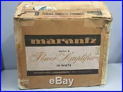 MARANTZ MODEL 9 Vintage Mono Block Tube Amplifiers w Boxes -Pair- Fully Serviced