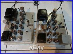 Magnavox Concert Grand Bi-Amped Mono Block Tube Amplifiers restored withtubes