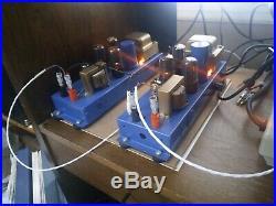 Magnavox tube amplifier Mono Blocks 6v6 pair heavy mod
