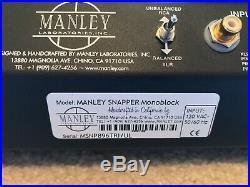Manley Snapper Monoblock Tube Amplifier Stereo Pair UltraLinear/Triode EL34 MINT