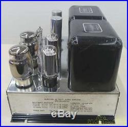 McIntosh MC-60 MC60 Monoblock Vacuum Tube Amplifier Amp Tested Working Used