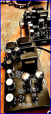 PAIR Bogen Presto MO100 MONO BLOCK CA. 1960 HIFI 100WPC 6550 TUBE AMP AUDIOPHILE
