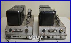 PAIR of 2 MONOBLOCK MCINTOSH MC40 MC-40 TUBE AMPLIFIER AMP