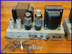 Pair AMPEX 6L6 Mono Block Tube Power Amplifiers 6L6 Output- Western Electric era