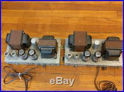 Pair AMPEX 6L6 Mono Block Tube Power Amplifiers 6L6 Output- Western Electric era