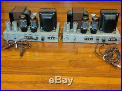 Pair AMPEX EL34/6L6 Mono Block Tube Power Amplifiers Western Electric era