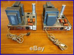 Pair Dynaco MK III Mono Block Tube Power Amplifiers using KT88