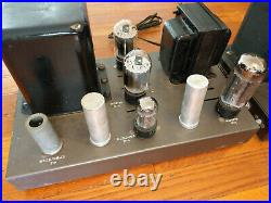 Pair EICO HF-22 Tube MONO BLOCK Power Amplifiers, Vintage Tubes