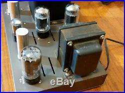 Pair EICO HF-22 Tube MONO BLOCK Power Amplifiers Work & Look Great