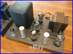 Pair EICO HF-22 Tube MONO BLOCK Power Amplifiers with All Vintage Tubes