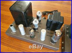 Pair EICO HF-22 Tube MONO BLOCK Power Amplifiers with All Vintage Tubes