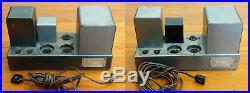 Pair QUAD II Tube Monoblock Power Amplifiers 100-120V, Work Great Classic