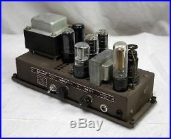 Pair Vintage 1946 Bell & Howell PP 6V6 MonoBlock Tube Amp from Filmosound 179
