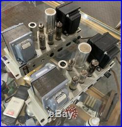 Pair Vintage Ampex Tube Monoblock Amplifiers 6973 Triad Transformers Super Nice