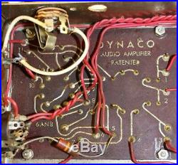 Pair Vintage Dynaco Dynakit Mark III Mono-block Tube Amp Pair For Parts As Is