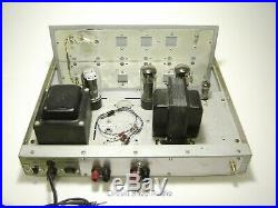 Pair Vintage Eico ST40 Chassis Modified to Monoblock Tube Amplifiers / EL34 KT