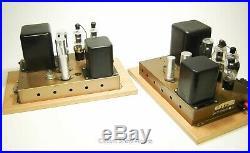 Pair Vintage Heathkit A-9C Modified to Monoblock Tube Amplifiers / 6BG6 KT1