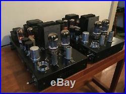 Pair of Bogen MO-100 Mono Block Vacuum Tube Amplifiers. Custom Audiophile Mods