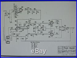 Pair of Vintage 6CA7/El84 Mono Block Tube Amplifier Rodgers Organ Model A-50