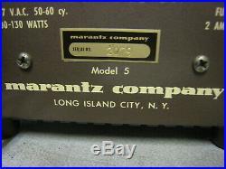 Pair of Vintage Marantz 5 Mono Block Monoblock Tube Amplifier Amp Lot free ship
