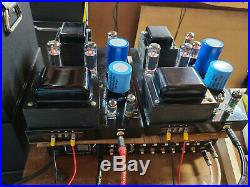 Quicksilver 8417 Monoblock Amplifiers Converted to EL34 Tubes