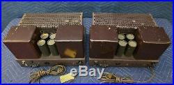 Rare Vintage Pair Fisher 55A Vacuum Tube Mono Block Amplifiers Classic Hifi