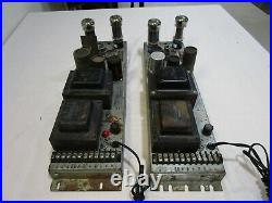 Rare Vintage Pair of Stromberg Carlson APH-1050 Mono Block Tube Power Amps Cool