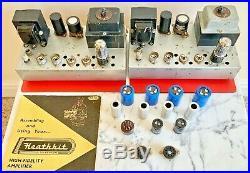 Stereo Heathkit MA12 Valve Tube Monoblock Amplifiers EL84 Leak TL12+ EMI EMG