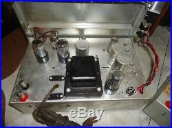 Tube Amplifier Mono Blocks Electrohome Chippendale Mk 3 6v6 P. P Tubes