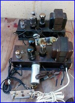 Tube Amplifier Pair Mono-blocks 6V6 PP Voice of Music VM with capacitor, resisto