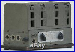 Tube amplifier power mono block 6n7 5v4 metal vintage stereo amp 1940's rare 15W