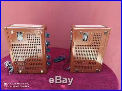 Two Thorens PR15 PR-15 mono block tube amplifiers. Tested in good conditions