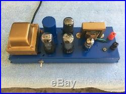 Two Vintage Magnavox Model 138 Monoblock Vacuum Tube Amps For Stereo Great Tubes