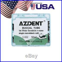 USPS 10X Dental Ortho Non-Conv Buccal Tube 1st Molar Bondable Roth 022 Monoblock