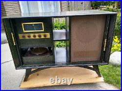 Vintage Console, 1952 Fisher Tube Mono Block Amp 50-A, Receiver 70-RT &Turntable