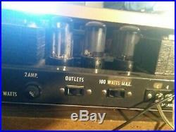 Vintage Grommes 55c Tube Amplifier jupiter capacitors rebuilt. MONO BLOCK#1