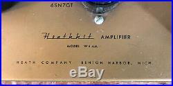 Vintage Heathkit W4-AM Williamson Tube Mono Blocks Serviced Super Sweet