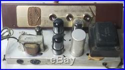 Vintage Magnavox 138BB 138 Mono Block Tube Amp Project 6V6 GT 12AX7