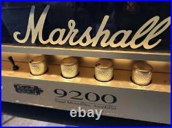 Vintage Marshall 9200 Dual Monoblock Amplifier Filter Power Head 2ch All Tube