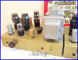 Vintage Mono Block 6V6 Valve Tube Amplifiers pair Leak Quad Dynatron Tannoy