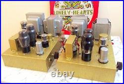 Vintage Mono Block 6V6 Valve Tube Amplifiers pair Leak Quad Rogers LS3/5A Tannoy