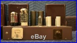 Vintage Pair Fisher 55-A Vacuum Tube Monoblock HiFi Power Amplifiers