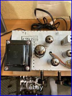 Vintage tube amp mono block audio Airline Montgomery Ward Radio EL 84 Tubes
