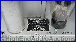Western Electric Silver 124B Vacuum Tube Monoblock Power Amplifiers
